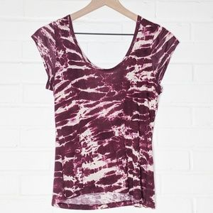 UO Sparkle & Fade Tie Dye Low Back Top Tee M Urban